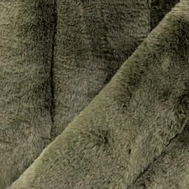 Tissu fourrure Tsar - vert kaki x 10cm
