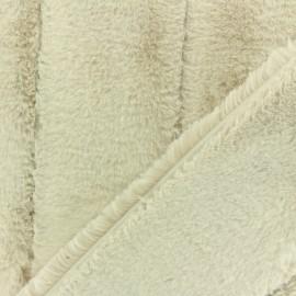 Tissu fourrure Tsar -crème x 10cm