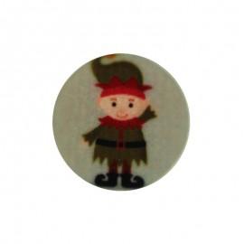 Bouton Polyester Christmas Vibes - Lutin