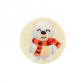 Polyester Button - Bear Christmas Vibes