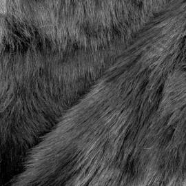 Fur fabric - black Deluxe x 10cm