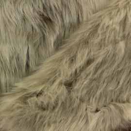Fur fabric - grey Deluxe x 10cm