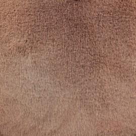 Fur fabric - Brown pink Ontario x 10 cm