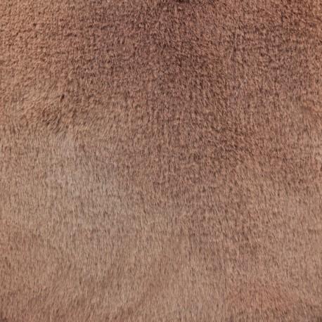Tissu fourrure Ontario - Rose Terracotta x 10cm