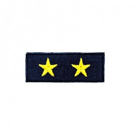 2 Stars Band Iron-On Patch - Gold