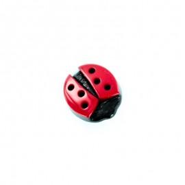 Bouton Polyester Free Ladybug - Rouge