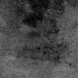 Tissu fourrure Glossy envers suédine - noir x 10cm