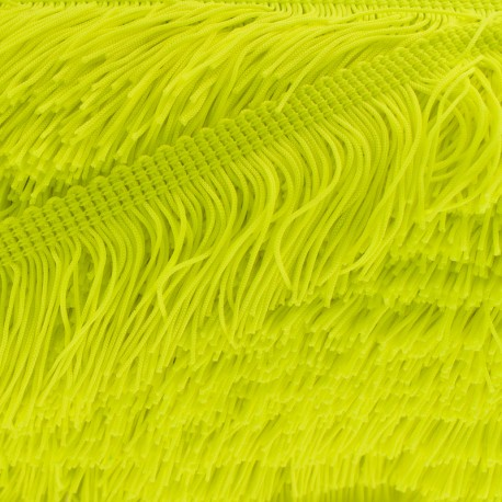 50 mm Fringe Trimming Ribbon - Yellow Neon x 1m