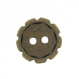 Metal Button - Ancient Bronze Gearing
