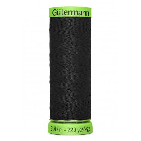 Extra Fine Sewing Thread Gutermann 200m - Black