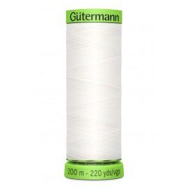 Bobine de Fil Extra Fin Gutermann 200m - Blanc