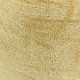 Plain Piloudou fabric - light camel x 10cm