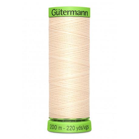 Bobine de Fil Extra Fin Gutermann 200m - Crème