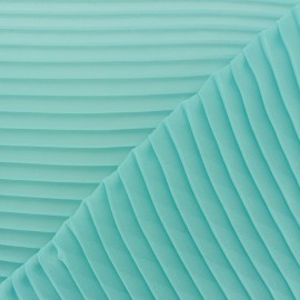 Light pleated crepe Fabric - seagreen x 50cm