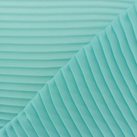 Tissu crêpe léger plissé - vert d'eau x 50cm