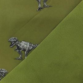 Tissu Softshell Poppy Robot Dino - vert kaki x 10cm