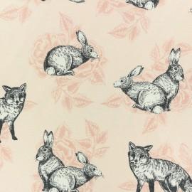Tissu toile de coton Poppy Sweet Roses - Rose x 10cm