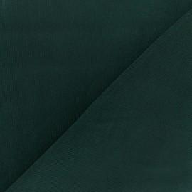 Tissu velours milleraies 200gr/ml - vert sapin x10cm
