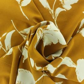 Tissu Microfibre Helena - ocre x 10cm