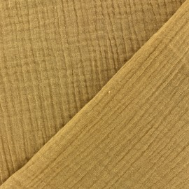 Plain Double gauze fabric - Marsala x 10cm