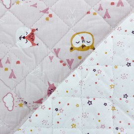 Quilted cotton fabric Nitoytis/Zeno - Pink x 10cm