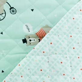 Quilted cotton fabric Rigatti/Feza - mint green x 10cm