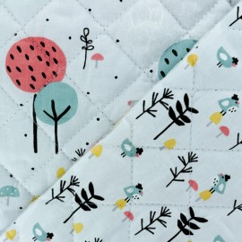 Quilted cotton fabric Loupala/Zizo - grey x 10cm