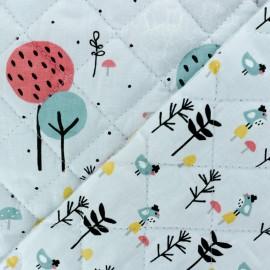 Tissu matelassé Réversible Loupala/Zizo - gris clair x 10cm