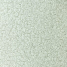 Tissu fourrure Astrakan Artik - Blanc x 10cm