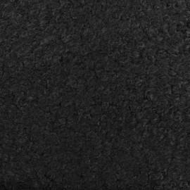 Tissu fourrure Astrakan Artik - noir x 10cm