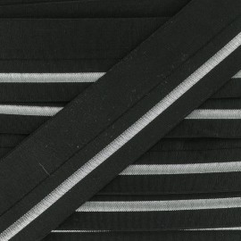 20 mm Elastic Bias Binding - Silver Zeda x 50cm