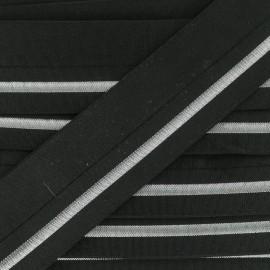 Biais élastique Zeda (20mm) - Argent x 50cm