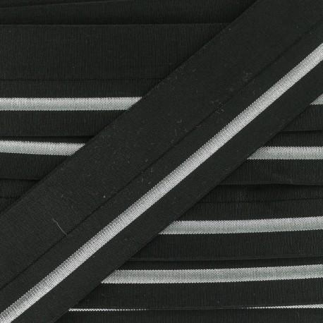 Elastic Bias Binding - Silver Zeda x 50cm