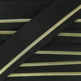 Biais élastique Zeda 20mm - Doré x 50cm