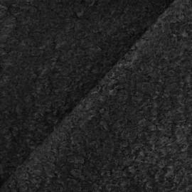 Tissu fourrure Astrakan Lahore - noir x 10cm