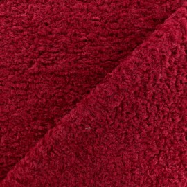 Astrakhan Fur fabric - red Lahore x 10cm