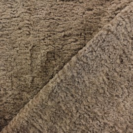 Astrakhan Fur fabric - taupe Lahore x 10cm