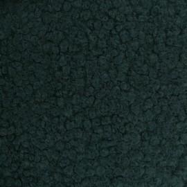 Tissu fourrure Astrakan Artik - vert sapin x 10cm