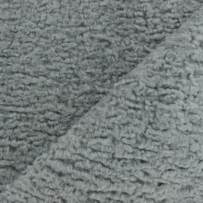 Astrakhan Fur fabric - grey Lahore - MPM