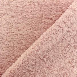 Tissu fourrure Astrakan Lahore - rose x 10cm