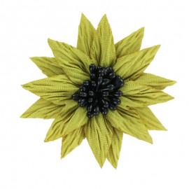Fleur Spécial Broche - Moutarde
