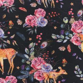 Tissu jersey Poppy Unicorn dream - bleu x 10cm