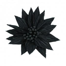 Fleur Spécial Broche - Noir