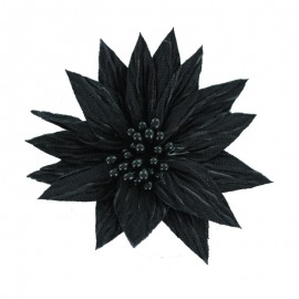 Special Brooch Flower - Black