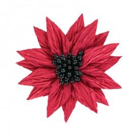 Fleur Spécial Broche - Rouge