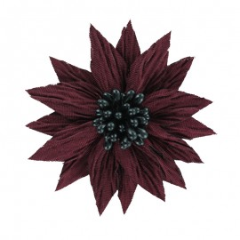 Special Brooch Flower - Burgundy