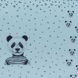 Panneau Jersey Poppy Mister Panda - bleu ciel x 75cm