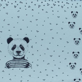 Poppy Jersey fabric Panel - sky blue Mister Panda x 75cm