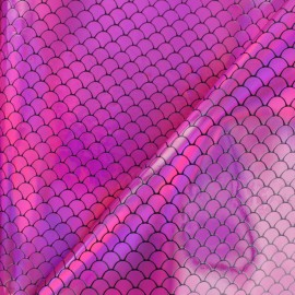 Simili cuir Ariel - Rose x 10cm