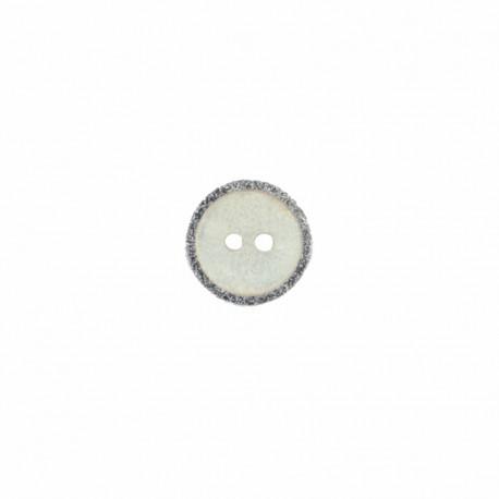Bouton Nacre Joanne 12 mm - Gris